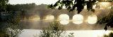 Stone Bridge in Fog, Loire Valley, France 写真プリント