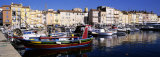 Boats Moored at a Dock, St. Tropez, Provence, France Photographic Print