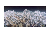 Painting of the Himalaya Mountains Giclée-tryk af Heinrich Berann