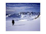 Begin it now Fotografie-Druck von  AdventureArt