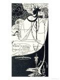 """J""""Ai Baise Ta Bouche, Jokanaan, Illustration from """"Salome"""" by Oscar Wilde, Pub. 1894 Giclée-vedos tekijänä Aubrey Beardsley"""