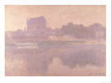The Church of Vernon, Brouillard, 1894 Giclée-Druck von Claude Monet