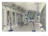 Design for a Music Room with Panels by Margaret Macdonald Mackintosh 1901 Giclée-tryk af Charles Rennie Mackintosh