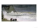 Rough Sea at Etretat, 1868-69 Giclée-Druck von Claude Monet