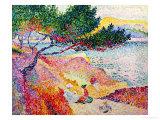 La Plage de Saint-Clair, 1906-07 Giclee Print by Henri Edmond Cross