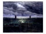 Sea Shore in Moonlight, 1835-36 ジクレープリント : カスパル・ダーヴィト・フリードリヒ