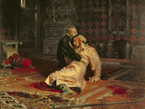 Ivan the Terrible and His Son on the 16th November, 1581, 1885 Giclee-trykk av Ilya Efimovich Repin