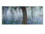 Waterlilies: Morning with Weeping Willows, Detail of the Right Section, 1915-26 Lámina giclée por Claude Monet