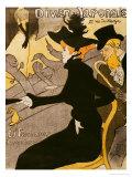 """Poster Advertising """"Le Divan Japonais"""", 1892 Reproduction giclée Premium par Henri de Toulouse-Lautrec"""