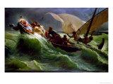 Christ Asleep in His Boat Giclee Print by Jules Jospeh Meynier
