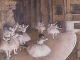 Ballet Rehearsal on the Stage, 1874 Giclée-tryk af Edgar Degas
