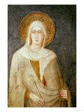 Five Saints, Detail of St. Clare Giclée-tryk af Simone Martini