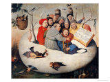 The Concert in the Egg Giclée-tryk af Hieronymus Bosch