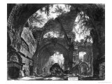 Ruined Gallery of the Villa Adriana at Tivoli Giclée-tryk af Giovanni Battista Piranesi