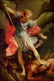 The Archangel Michael Defeating Satan Reproduction procédé giclée par Guido Reni
