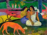 Arearea, 1892 Giclée-tryk af Paul Gauguin