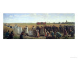 The Blessing of the Wheat in the Artois, 1857 Giclee Print by Jules Breton