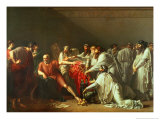 Hippocrates Refusing the Gifts of Artaxerxes I 1792 Giclée-tryk af Anne-Louis Girodet de Roussy-Trioson
