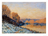 Port-Marly, White Frost, 1872 Giclee Print by Alfred Sisley