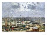 The Port of Bordeaux, 1874 Reproduction procédé giclée par Eugène Boudin