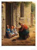 Feeding the Young, 1850 Giclee Print by Jean-François Millet