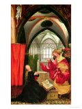 The Annunciation from the Isenheim Altarpiece, Left Hand Wing, circa 1512-16 Giclée-tryk af Matthias Grünewald