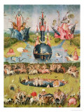 The Garden of Earthly Delights: Allegory of Luxury, Central Panel of Triptych, circa 1500 Gicléetryck av Hieronymus Bosch