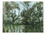 House on the Banks of the Marne, 1889-90 Giclée-vedos tekijänä Paul Cézanne