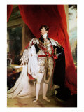 The Prince Regent, Later George IV in His Garter Robes, 1816 Giclée-tryk af Thomas Lawrence