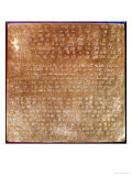 Plaque of Darius I 550-500 BC Giclée-tryk