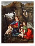 Madonna of the Rocks Giclee Print by  Leonardo da Vinci