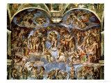 Sistine Chapel: the Last Judgement, 1538-41 Impressão giclée por  Michelangelo Buonarroti