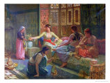 Interior of a Harem, circa 1865 Giclee Print by Leon-Auguste-Adolphe Belly