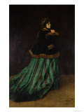 Camille, or the Woman in the Green Dress, 1866 Giclée-Druck von Claude Monet
