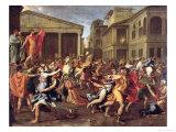 The Rape of the Sabines, circa 1637-38 Stampa giclée di Nicolas Poussin