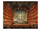 Concert Given by Cardinal de La Rochefoucauld at the Argentina Theatre in Rome Reproduction procédé giclée par Giovanni Paolo Pannini