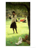 Croquet, circa 1878 Giclee-trykk av James Tissot