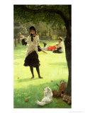 Croquet, circa 1878 Giclée-Druck von James Tissot