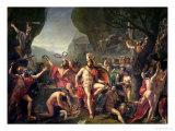 Leonidas at Thermopylae, 480 BC, 1814 Giclee Print by Jacques-Louis David
