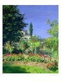 Flowering Garden at Sainte-Adresse, circa 1866 Giclée-tryk af Claude Monet