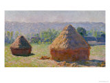 The Haystacks, or the End of the Summer, at Giverny, 1891 Giclée-tryk af Claude Monet