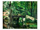 The Bridge at Maincy, or the Bridge at Mennecy, or the Little Bridge, circa 1879 Giclée-vedos tekijänä Paul Cézanne