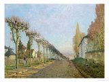 Rue de La Machine, Louveciennes, 1873 Giclee Print by Alfred Sisley