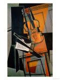 The Violin, 1916 Giclée-tryk af Juan Gris
