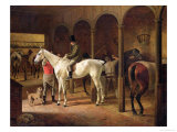In a Stable Giclee Print by Franz Kruger