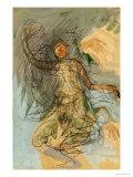 Cambodian Dancer Giclée-tryk af Auguste Rodin