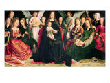 Virgin and Child with Saints, circa 1509 Giclée-tryk af Gerard David