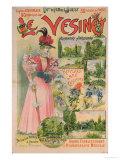 Poster for the Chemins de Fer de L'Ouest to Le Vesinet, circa 1895-1900 Giclée-Druck von Albert Robida