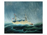 The Storm-Tossed Vessel, 1890-93 Giclee Print by Henri Rousseau