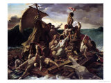 The Raft of the Medusa Giclee-trykk av Théodore Géricault